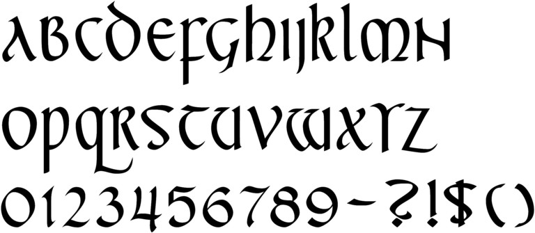 Calligraphy Numbers Old English Germany calligraphy fonts