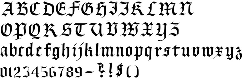 Callifonts Black Letter Gothic Style Calligraphy Fonts