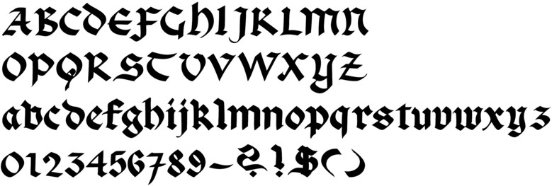 Black Letter Gothic In Sequence By Century