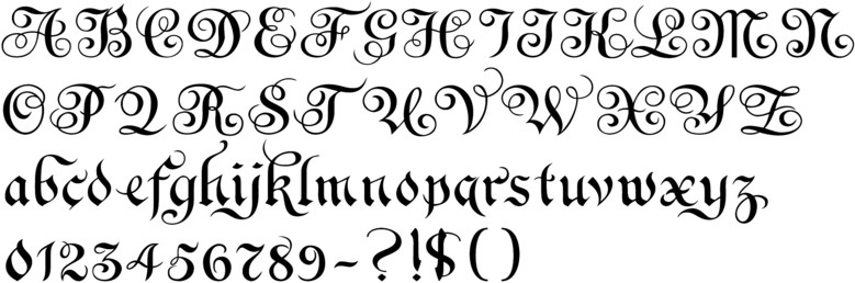 Copperplate In Sequence By Century