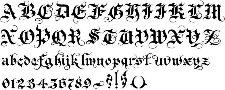 Old English Font 44