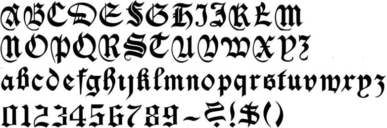 Simple Gothic Calligraphy Callifonts S Fonts Medieval