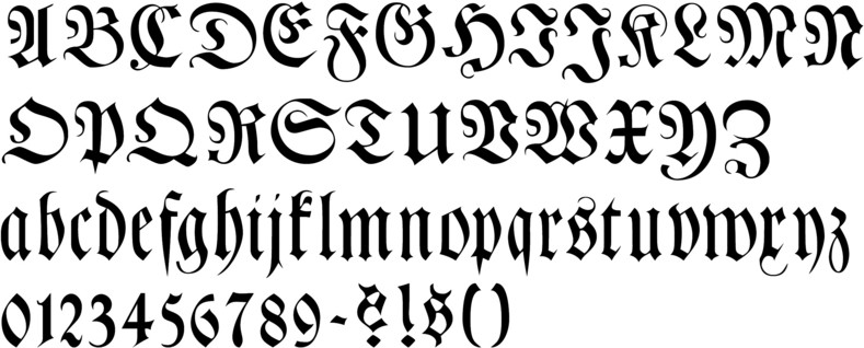 German Style Font Callifonts - germany calligraphy fonts