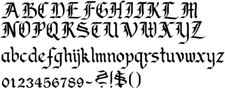 fonts calligraphy: